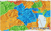 Political 3D Map of Librazhd