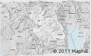 Silver Style 3D Map of Librazhd