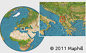 Satellite Location Map of Librazhd