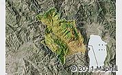 Satellite Map of Librazhd, semi-desaturated