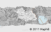 Gray Panoramic Map of Librazhd