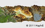 Physical Panoramic Map of Librazhd, darken