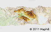 Physical Panoramic Map of Librazhd, lighten