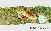 Physical Panoramic Map of Librazhd, satellite outside