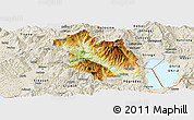 Physical Panoramic Map of Librazhd, shaded relief outside