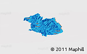 Political Panoramic Map of Librazhd, cropped outside