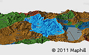 Political Panoramic Map of Librazhd, darken
