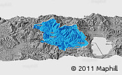 Political Panoramic Map of Librazhd, desaturated