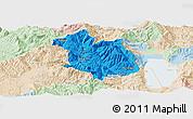 Political Panoramic Map of Librazhd, lighten