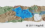 Political Panoramic Map of Librazhd, semi-desaturated