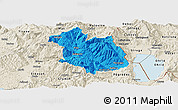 Political Panoramic Map of Librazhd, shaded relief outside
