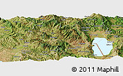 Satellite Panoramic Map of Librazhd