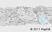 Silver Style Panoramic Map of Librazhd
