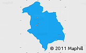 Political Simple Map of Librazhd, single color outside