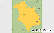 Savanna Style Simple Map of Librazhd