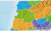 Physical 3D Map of Lushnjë, political outside