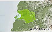 Physical 3D Map of Lushnjë, semi-desaturated