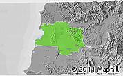 Political 3D Map of Lushnjë, desaturated