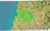 Political 3D Map of Lushnjë, satellite outside