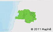 Political 3D Map of Lushnjë, single color outside