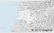 Silver Style 3D Map of Lushnjë