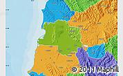 Physical Map of Lushnjë, political outside