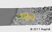Satellite Panoramic Map of Lushnjë, desaturated