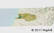 Satellite Panoramic Map of Lushnjë, lighten