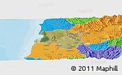 Satellite Panoramic Map of Lushnjë, political outside