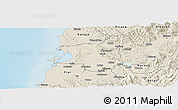 Shaded Relief Panoramic Map of Lushnjë