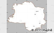 Gray Simple Map of Lushnjë, cropped outside