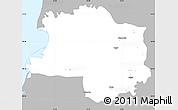 Gray Simple Map of Lushnjë, single color outside