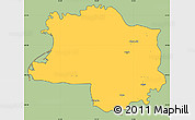 Savanna Style Simple Map of Lushnjë, cropped outside