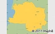 Savanna Style Simple Map of Lushnjë, single color outside