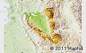 Physical Map of Mat, lighten