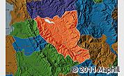 Political Map of Mat, darken