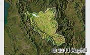 Satellite Map of Mat, darken