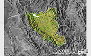 Satellite Map of Mat, desaturated