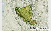Satellite Map of Mat, lighten