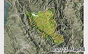 Satellite Map of Mat, semi-desaturated