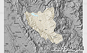 Shaded Relief Map of Mat, darken, desaturated