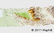 Physical Panoramic Map of Mat, lighten