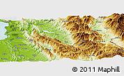Physical Panoramic Map of Mat