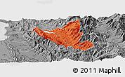 Political Panoramic Map of Mat, desaturated
