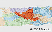 Political Panoramic Map of Mat, lighten
