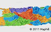 Political Panoramic Map of Mat