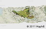 Satellite Panoramic Map of Mat, lighten