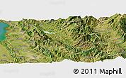 Satellite Panoramic Map of Mat