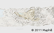 Shaded Relief Panoramic Map of Mat, lighten