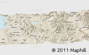 Shaded Relief Panoramic Map of Mat